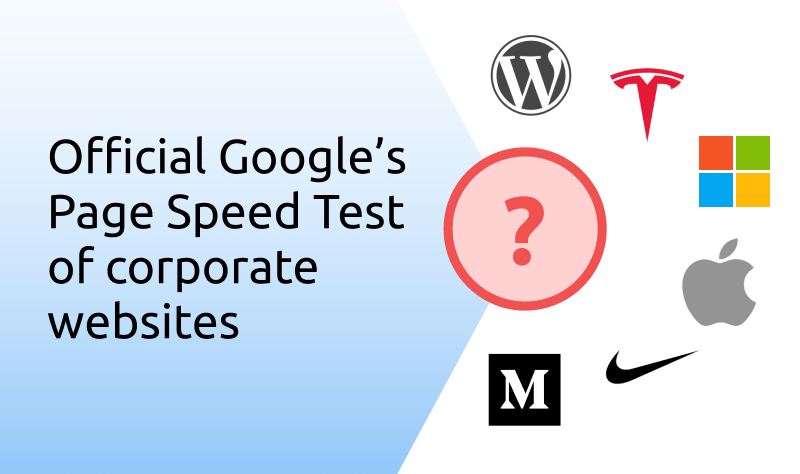 `img for We did a page speed tests of a popular corporate websites. Here is what we got article`